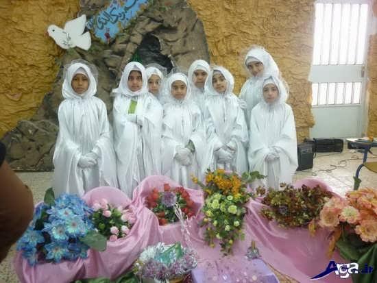 چادر نماز برایجشن تکلیف بچه ها