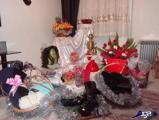 تزیینات شب یلدا عروس جدید