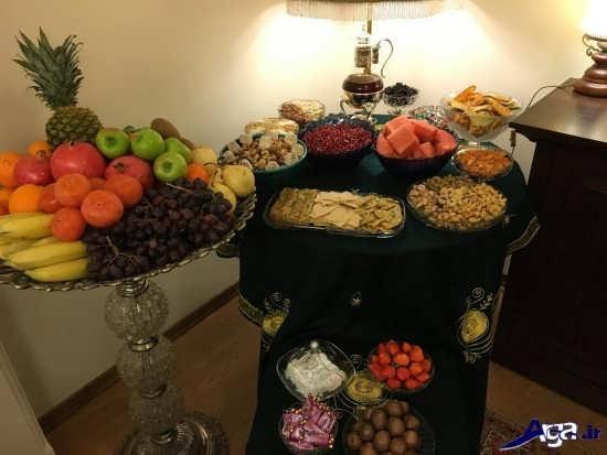 تزیین وسایل و خوردنی های شب یلدا