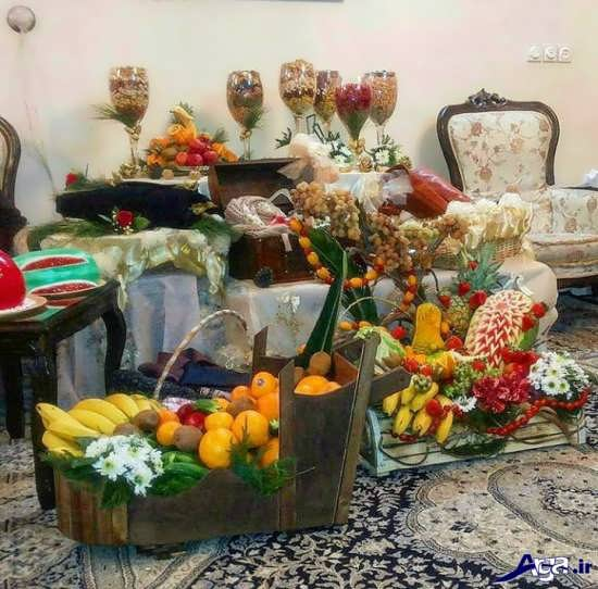 تزیین وسایل شب یلدا برای عروس