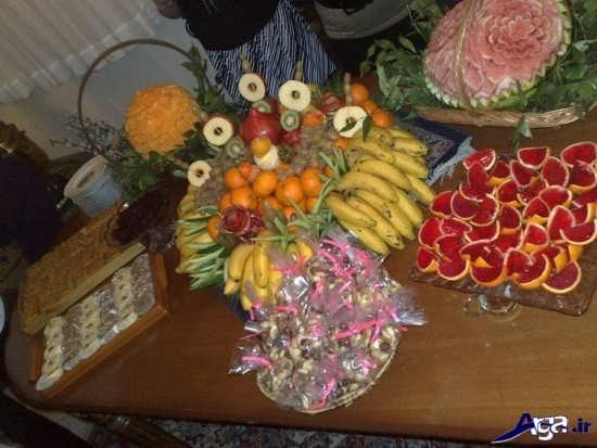 مدل تزیین میوه برای شب یلدا
