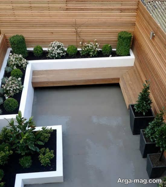 دیزاین لاکچری برای باغچه حیاط