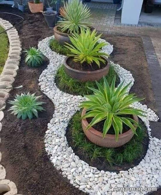 جدیدترین طراحی باغچه حیاط