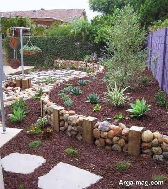 دیزاین خلاقانه برای باغچه حیاط