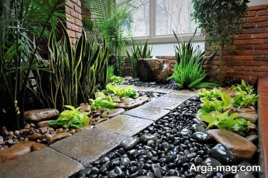 خاص ترین طراحی باغچه حیاط