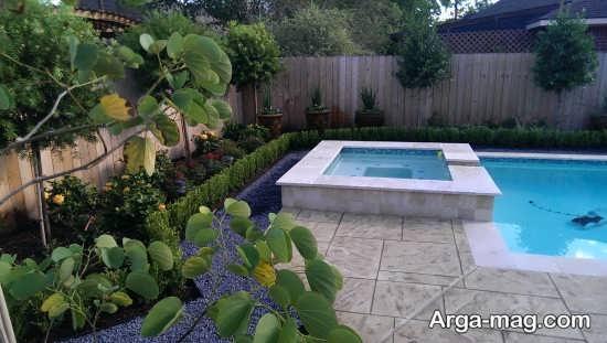 دیزاین باغچه حیاط با طرح زیبا