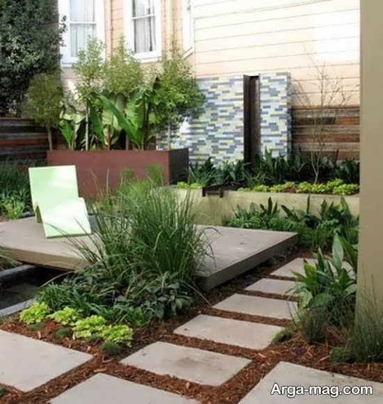 دیزاین باغچه حیاط با طرح مناسب
