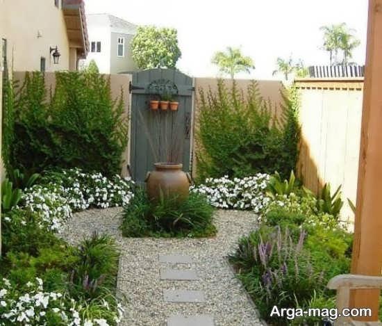 دیزاین باغچه حیاط با طرح دیدنی