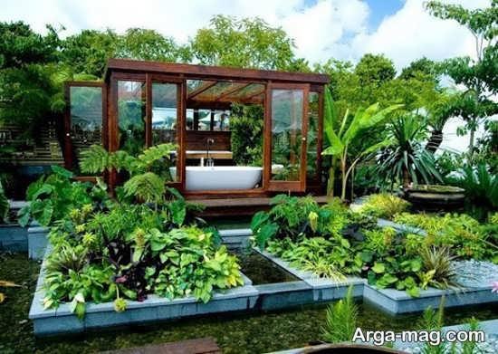 دیزاین باغچه حیاط با طرح جذاب