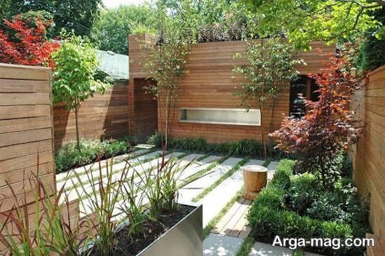 دیزاین قشنگ برای باغچه حیاط