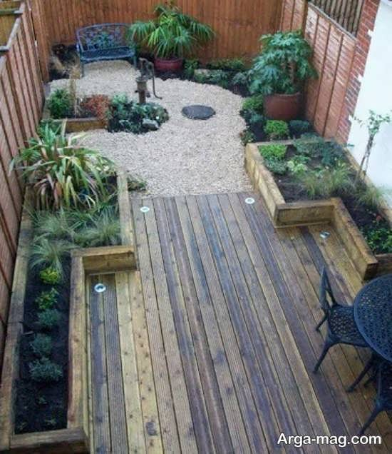 دیزاین منحصر به فرد برای باغچه حیاط
