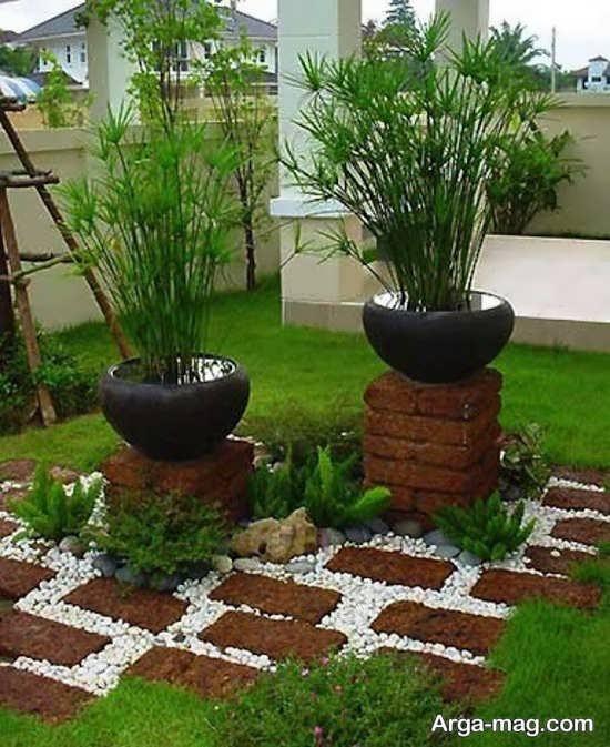دیزاین تماشایی برای باغچه حیاط