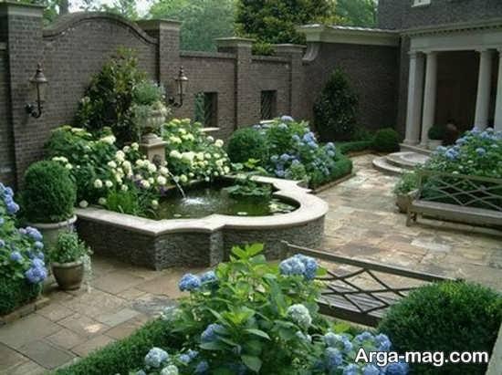 دیزاین بی نظیر برای باغچه حیاط