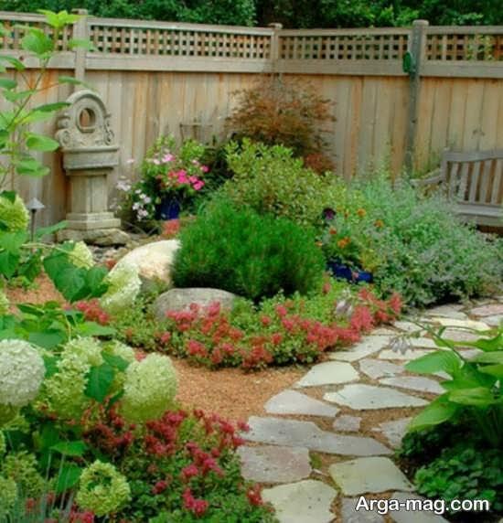 دیزاین مدرن برای باغچه حیاط