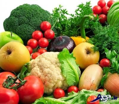 مصرف سبزیجات و میوه های حاوی آب برای لاغر شدن صورت
