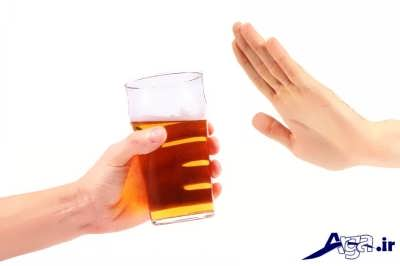 پرهیز از نوشیدن مشروبات الکی برای لاغر شدن صورت