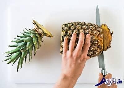 کندن پوست آناناس