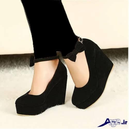 مدل کفش مخمل مشکی دخترانه