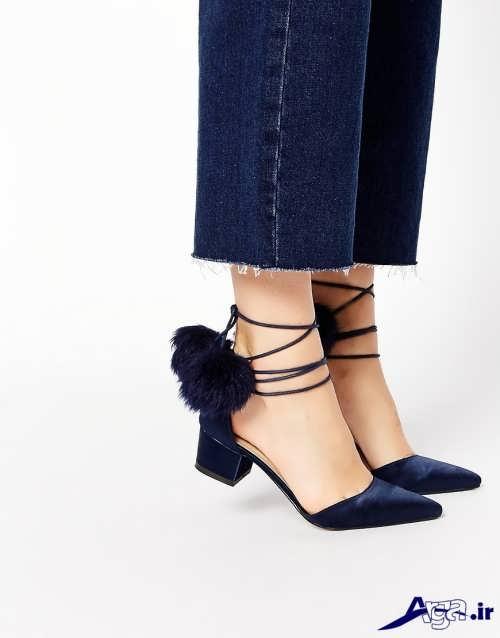 کفش زنانه پاشنه کوتاه با طرح های زیبا و متفاوت