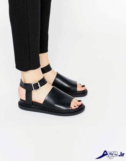 کفش دخترانه پاشنه کوتاه با جدیدترین طرح های مد سال