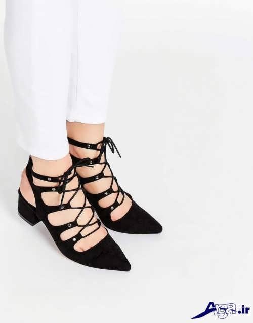 کفش های پاشنه کوتاه زنانه و دخترانه