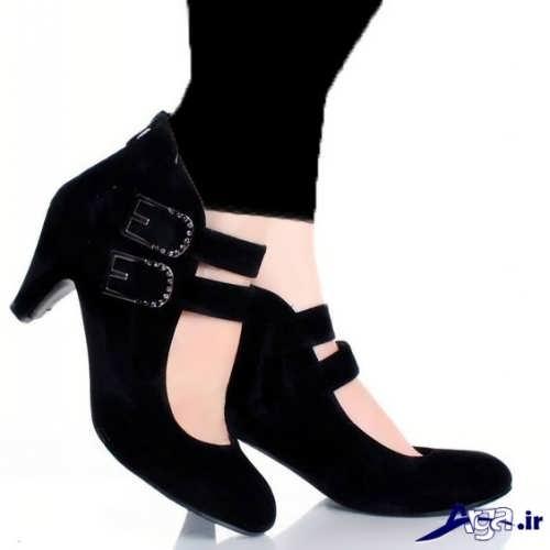 کفش مخمل زنانه پاشنه کوتاه