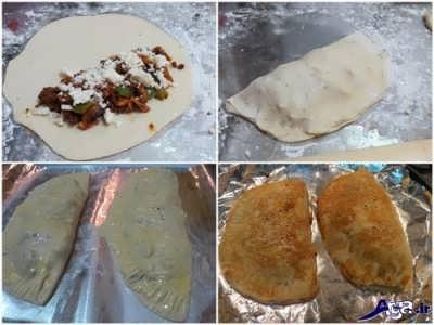 روش پخت پیتزا کالزونه