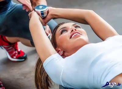 انجام تمرینات مفید لاغری