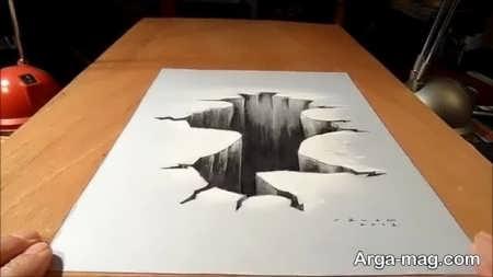 نقاشی سه بعدی با طرحی منحصر به فرد