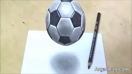 نقاشی سه بعدی با طرح توپ