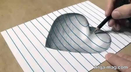 نقاشی سه بعدی با طرحی تماشایی