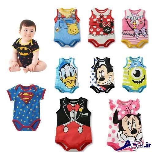 مدل لباس سرهمی نوزاد با طرح های عروسکی