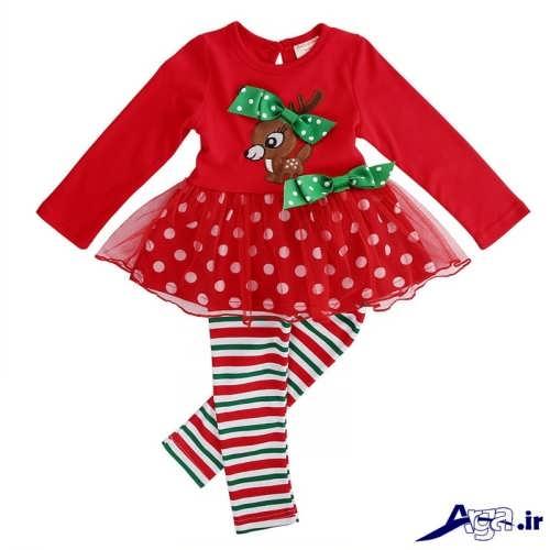 لباس سرهمی نوزاد دخترانه