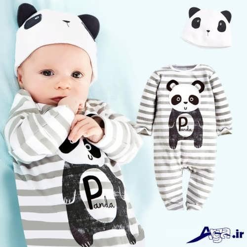 لباس سرهمی عروسکی نوزاد