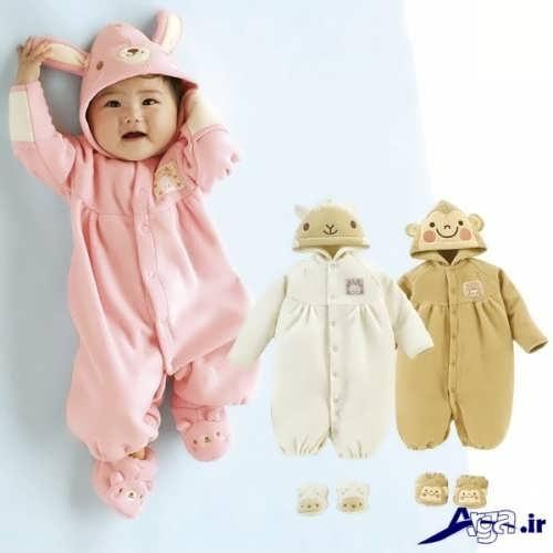 لباس نوزاد سرهمی با طرح های زیبا و جدید