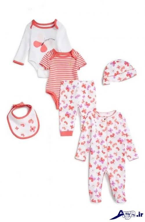 مدل های زیبا و شیک لباس سرهمی نوزاد