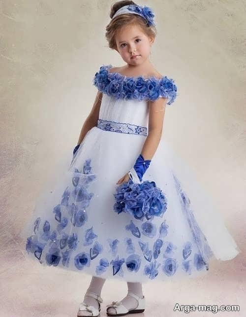 پیراهن مجلسی بچه گانه فوق العاده برای خواهر عروس