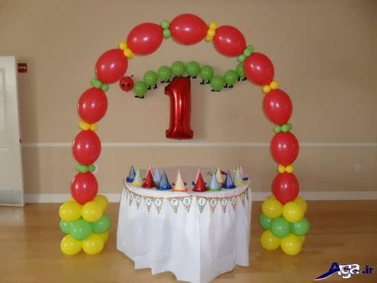 تزیین میز تولد با بادکنک