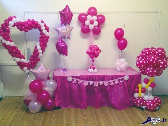 تزیینات جشن تولد با بادکنک های بنفش
