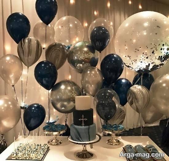 بادکنک آرایی مدرن جشن تولد