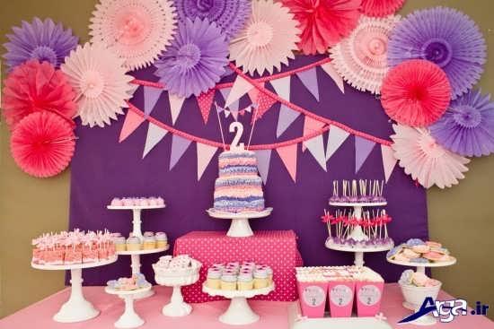 تزیین میز برای جشن تولد کودکان