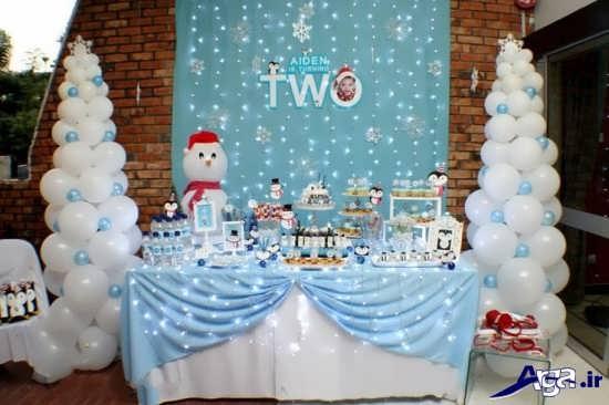 تزیین میز تولد زمستانی