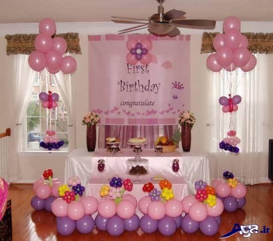 تزیین میز جشن تولد با تم صورتی