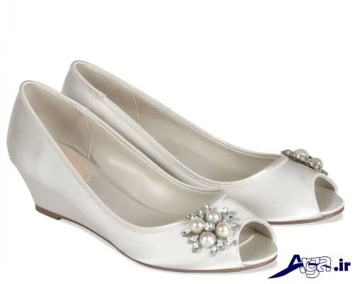 مدل کفش عروس لژ دار
