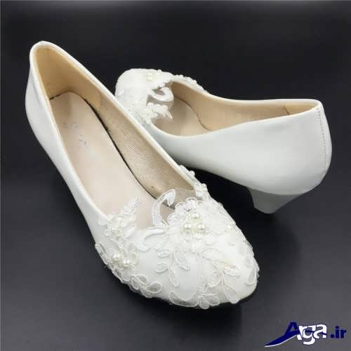 مدل کفش عروس با رنگ سفید