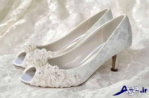 مدل کفش عروس پاشنه کوتاه جدید