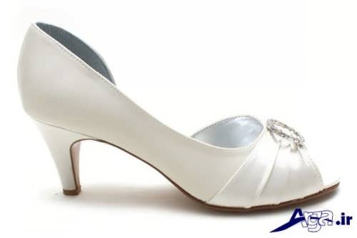 مدل کفش عروس پاشنه کوتاه با طرح های زیبا و متنوع