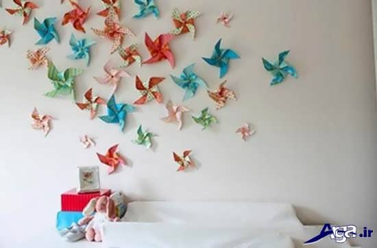 مدل پروانه نمدی تزیین اتاق کودک با وسایل دور ریختنی و بی استفاده و ایده های نو