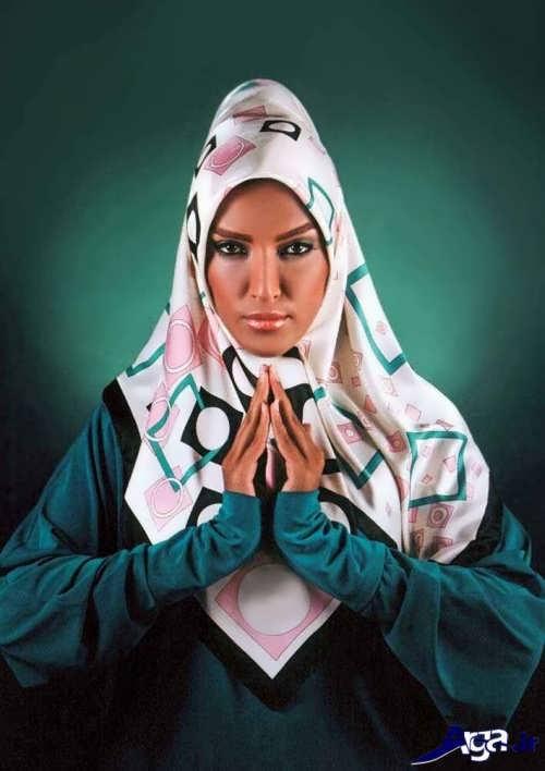 مدل بستن روسری با روش ساده و جذاب