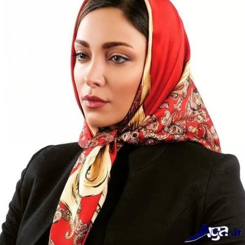 مدل بستن روسری با گره ساده و زیبا